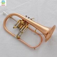 Профессиональный розовый латунный гравировальный звонок flugelhorn Abalone новейший водный ключ Bb horn w/Чехол