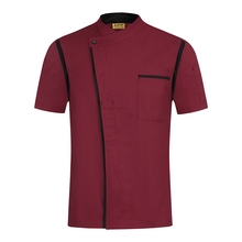 2019 New Chef Clothes Kitchen Chef Uniform Short Sleeve Cafe Hotel Restaurant Work Wear Chef Clothing Cooking Jacket Uniforms