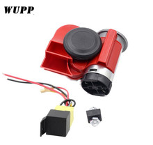 WUPP  Car Motorcycle Truck Horns 12 V Super Loud Yacht Boat Compact Dual Tone Electric Pump Air Motorbike Horn