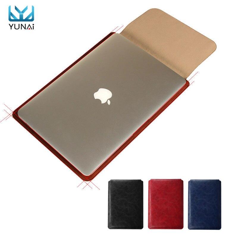 Ультра-тонкий Для Macbook air 11 13.3 Pro 15.4 Сумка PU кожа Ноутбук Сумка Для Macbook 12 Рукава Дело Обложка Чехол мешок