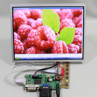 DVI VGA lcd controller board RT2261 with 10.4inch G104X1 L04 1024X768 lcd panel