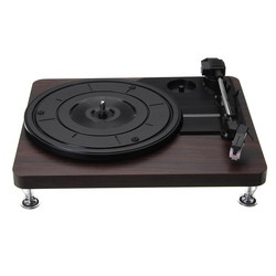 Madeira cor registro retro player 33 rpm portátil áudio gramofone turntable disco de vinil áudio rca r/l 3.5mm saída usb dc 5 v