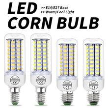 E27 светодиодный кукурузный светильник E14 лампы в форме свечи лампы светодиодный 3W 5W 7W 9W 15W GU10 светодиодный светильник 220V светильник лампы 5730 SMD люстра Bombillas дома светильник Инж