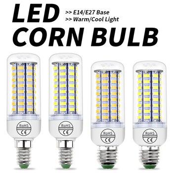 цена на E27 LED Corn Light E14 Candle Bulb LED 3W 5W 7W 9W 15W GU10 LED Lamp 220V Light Bulb 5730 SMD Chandelier Bombillas Home Lighting