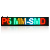 4 Color 20''x 3.7 inch P5 LED Display Programmable Edit Time Message Board Display For Busness Commercial Outdoor Lighting