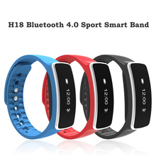 H18 Bluetooth 4.0 Спорт Смарт Группа расход калорий браслет Фитнес трекер анти-потерянный браслет для Android IOS смартфон