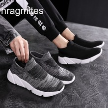 Phragmites 2019 new flyknit casaul shoes couple light weight sneakers handsome black tenis masculino adulto sneakers men shoes