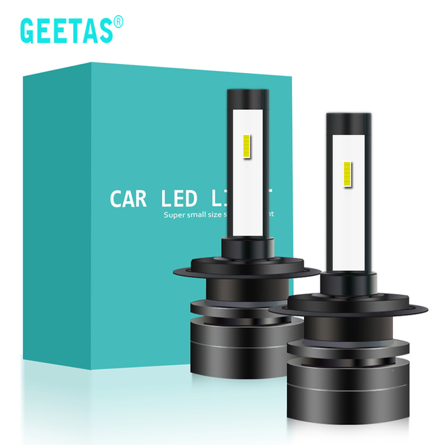 GEETANS H11 H1 LED H4 HB4 H8 9005 Led H7 Headlight H27 HB3 9006 H3 HB2 9003 H9 880 6000K 12V Super Mini Car Fog Lights Bulbs