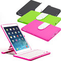 New 360 Degree Swivel Rotating Wireless Bluetooth Keyboard + Plastic Stand Case Cover For iPad Air 2 EM88