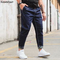 2018 Spring Men S Jeans Large Size Harem Pants Fashion Trend Loose Rope Waist Beam Feet