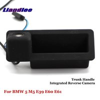 Liandlee For BMW 5 M5 E39 E60 E61 Car Rearview Reverse Camera Backup Parking Rear View Camera / Integrated Trunk Handle