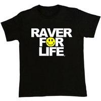 Boutique T Shirts Crew Neck Men Funny Short Sleeve Raver For Life Old Skool Rave Acid