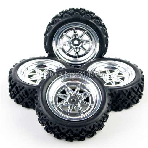 4Pcs/Set 1:10 RC Rally Racing Off Road Car HPI Rubber Tires Wheel Rim Hub Remote Control Toy Car 12mm Hex Model Toy Accessorie hiwin mgn15 mgn15c4r800z0cm linear guideways rail mgnr15r 800mm with 4pcs mgn15c carriage block cnc diy 3d printer miniature