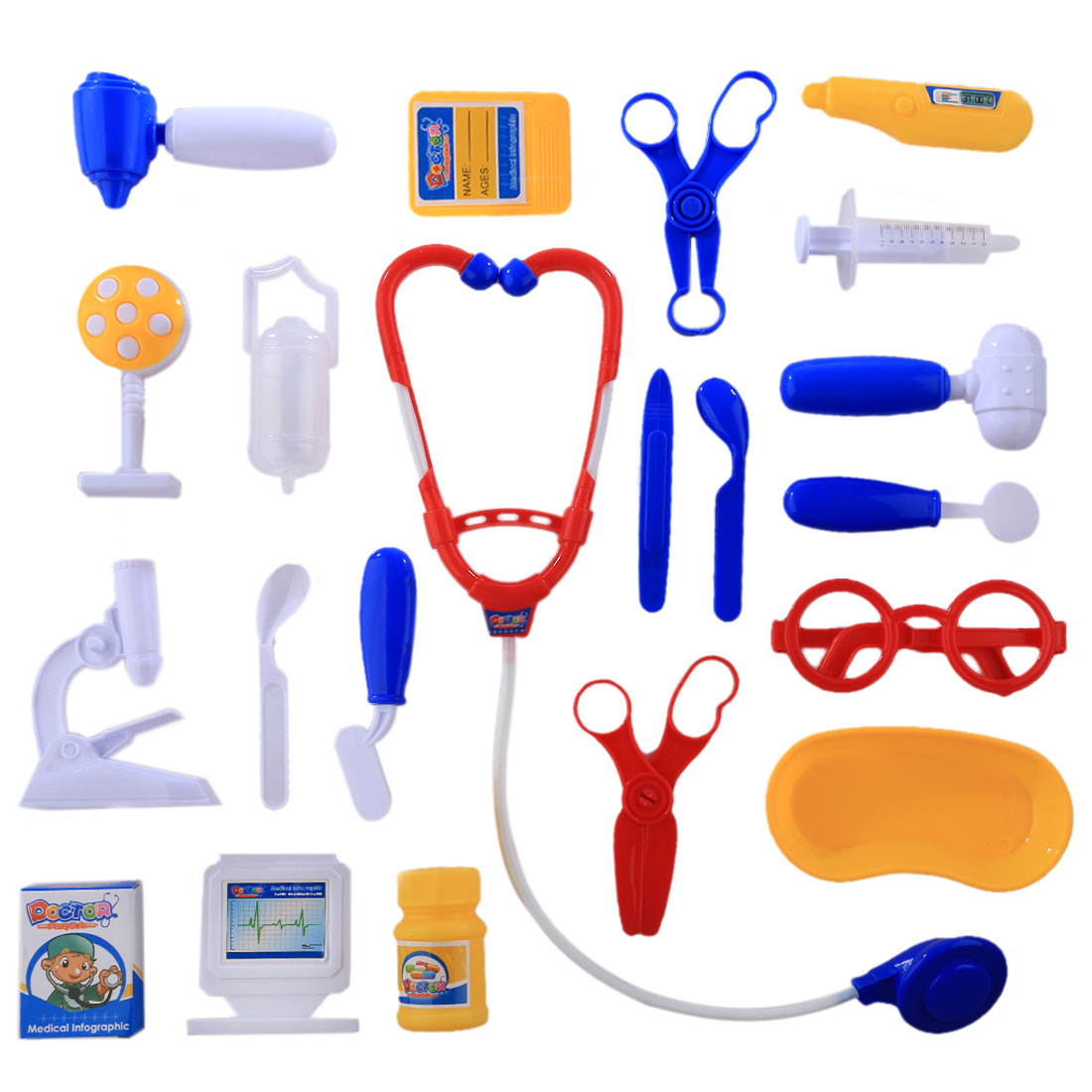 21Pcs/Set Children Pretend Play Doctor Nurse Toy
