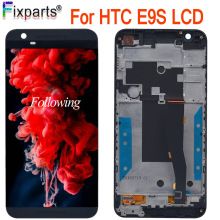 For HTC One E9S LCD Display + Touch Screen Digitizer With Frame Replacement for HTC E9S Lcd Free Shipping купить недорого в Москве