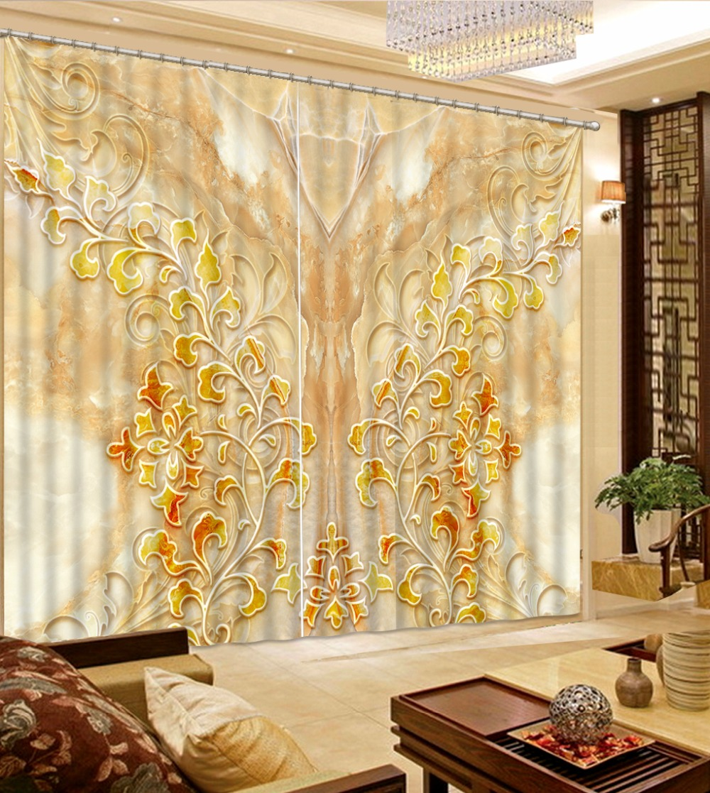 Photo Customize size 3D curtain marble flower home decor modern Photo Customize size 3D curtain marble flower home decor modern