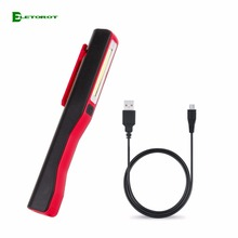 Eletorot USB Flashlight  LED Torch Light With Magnetic Working Inspection Lamp Pen Pocket Lamp Pen Light Hand Torch +USB Cable