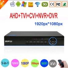 Blue Ray XMeye Hi3521A Canal 16 CANALES de 5 en 1 1080 P 2MP Full HD Coaxial XVI Hybrid NVR CVI TVI AHD CCTV DVR DEL Envío gratis