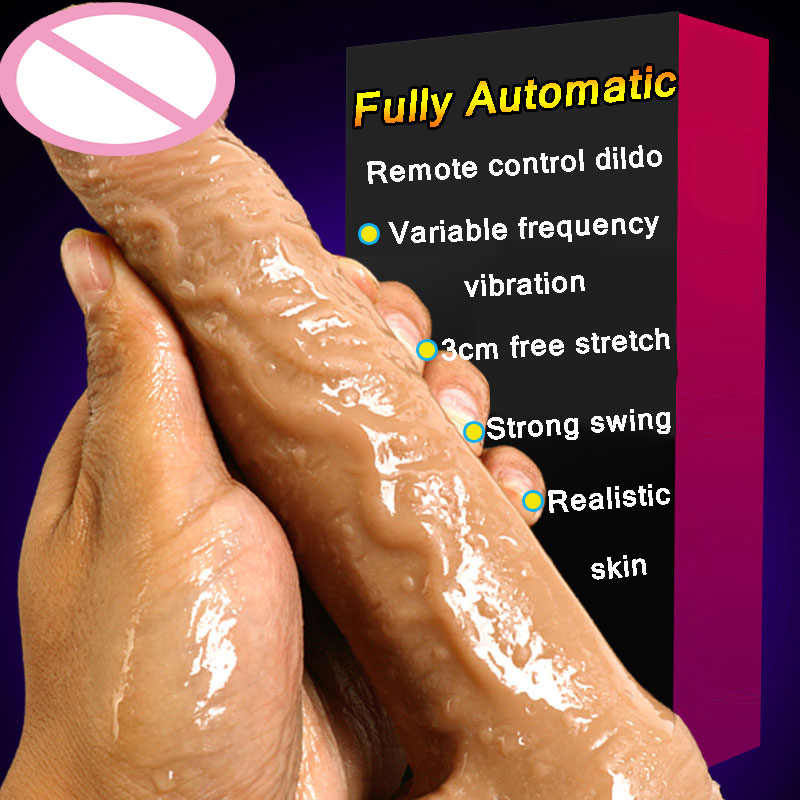 CPWD Automatic Telescopic Vibrating Big Real Skin Dildos Super Realistic Artificial Penis Dick Adult Female Masturbation Sex ToyCPWD Automatic Telescopic Vibrating Big Real Skin Dildos Super Realistic Artificial Penis Dick Adult Female Masturbation Sex Toy