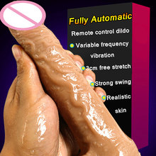 CPWD Automatic Telescopic Vibrating Big Real Skin Dildos Super Realistic Artificial Penis Dick Adult Female Masturbation Sex Toy