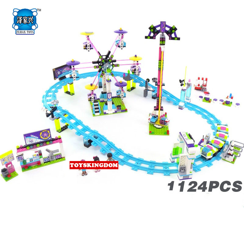 Lepins City My Good Friends Girls Clubs Amusement Park Roller Coaster Building Block Naya Emma Andrea Matthew Figures Bricks Toy aya naya кардиган модель 234704335