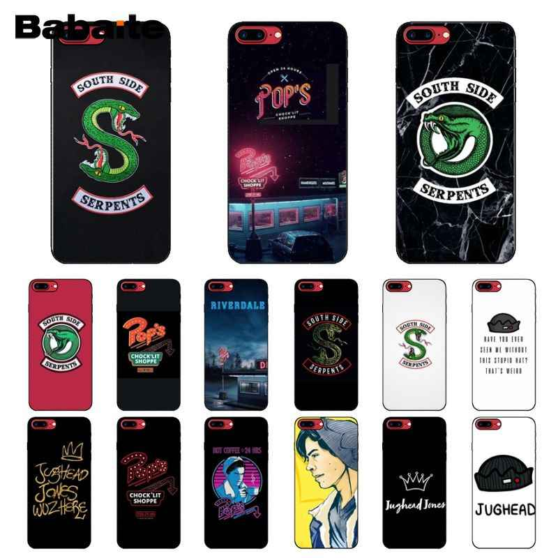 Babaite American TV Riverdale Painted Silicone black Phone Case for Apple iPhone 8 7 6 6S Plus X XS MAX 5 5S SE XR Mobile Cases