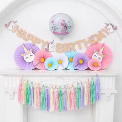 5 шт./упак. разноцветная бумага переливающийся подвесная гирлянда бумага баннер для новый год Свадьба День рождения DIY подвесные украшения
