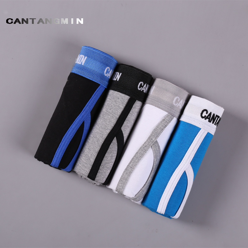 CANTANGMIN Male panties cotton comfortable breathable underwear trunk shorts