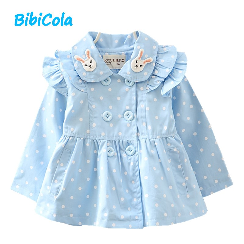 BibiCola baby girls autumn coat princess outwear infant childrens jacket toddle kids coats tracksuit casual jacket girl clothes