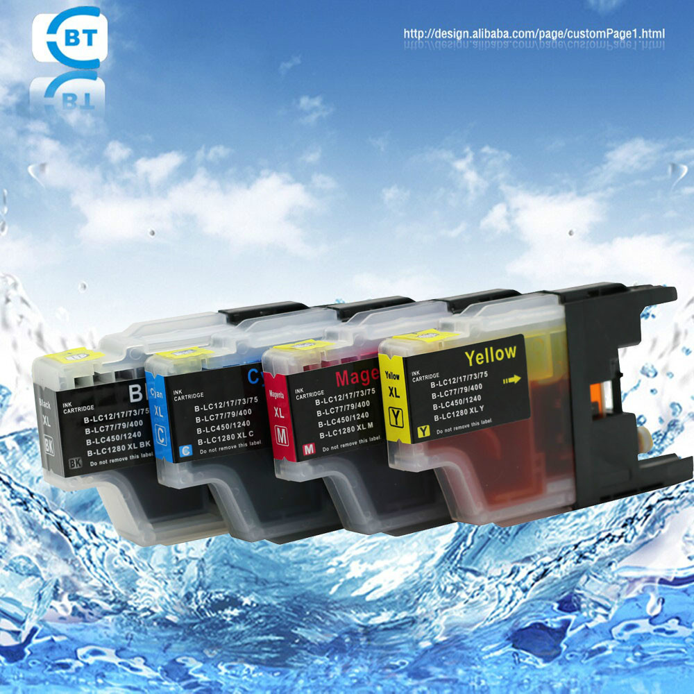 4PCS MFC-J6510DW MFC-J6710 MFC-J6910DW MFC-J6710DW printer ink cartridge LC77 L79 <font><b>LC1280</b></font> LC1240 LC400 LC450 LC13 LC17 image