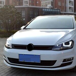Image 3 - Carmonsons reflektory brwi powieki ABS chromowane wykończenie naklejka na pokrywę dla Volkswagen VW Golf 7 MK7 GTI akcesoria Car Styling