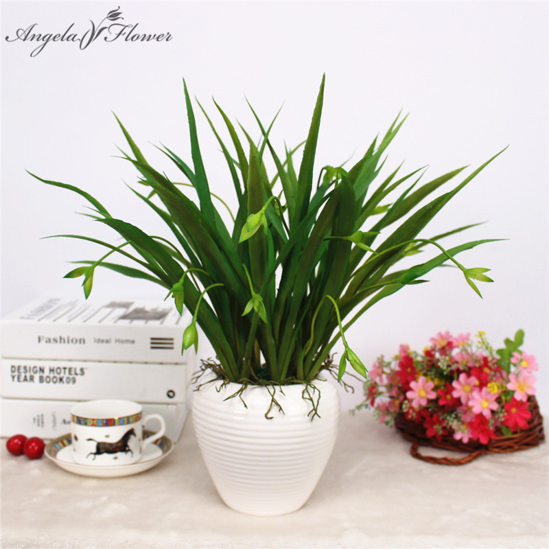 Small Flower Garden Decor: Artificial Flower Wholesale Small Hanging Orchid Grass