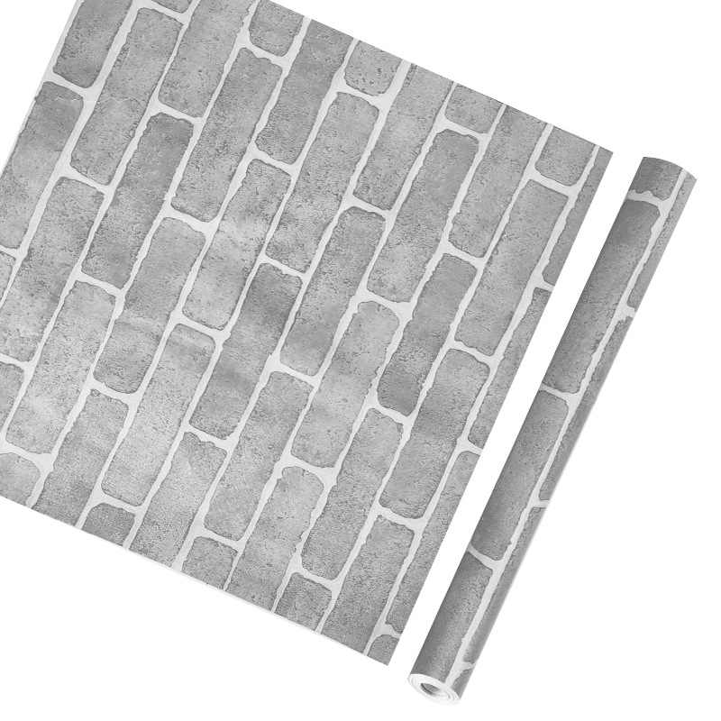 Venta caliente impermeable de PVC autoadhesivo de pared de decoración de ladrillo de piedra de grano de techo pegatinas de renovación en la pared 5 M