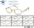 Eyewear & Accessories Retro Glasses Vintage Style Round Shape Optical Titanium Frame High Quality  Super Light