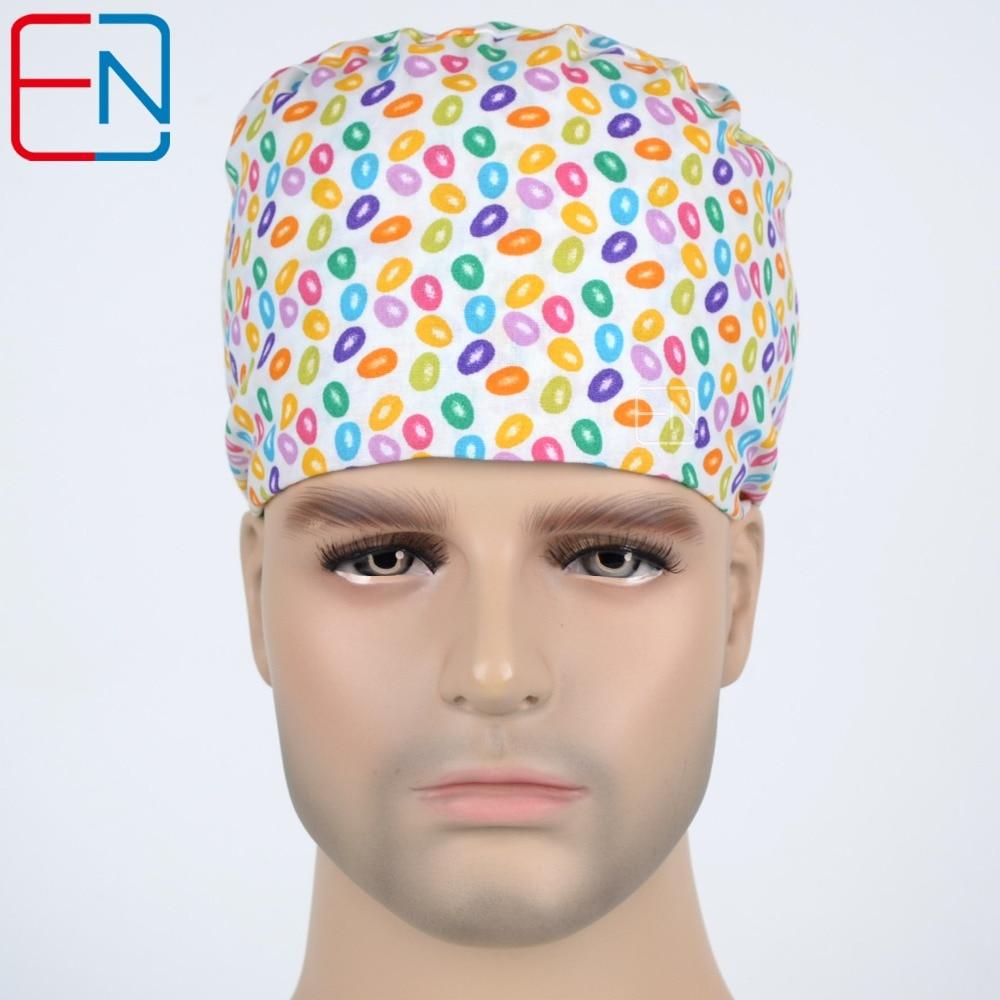 Unisex Surgical Scrub Cap Hat s potítka