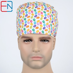 Unisex Surgical Scrub Cap Hat with Sweatbands