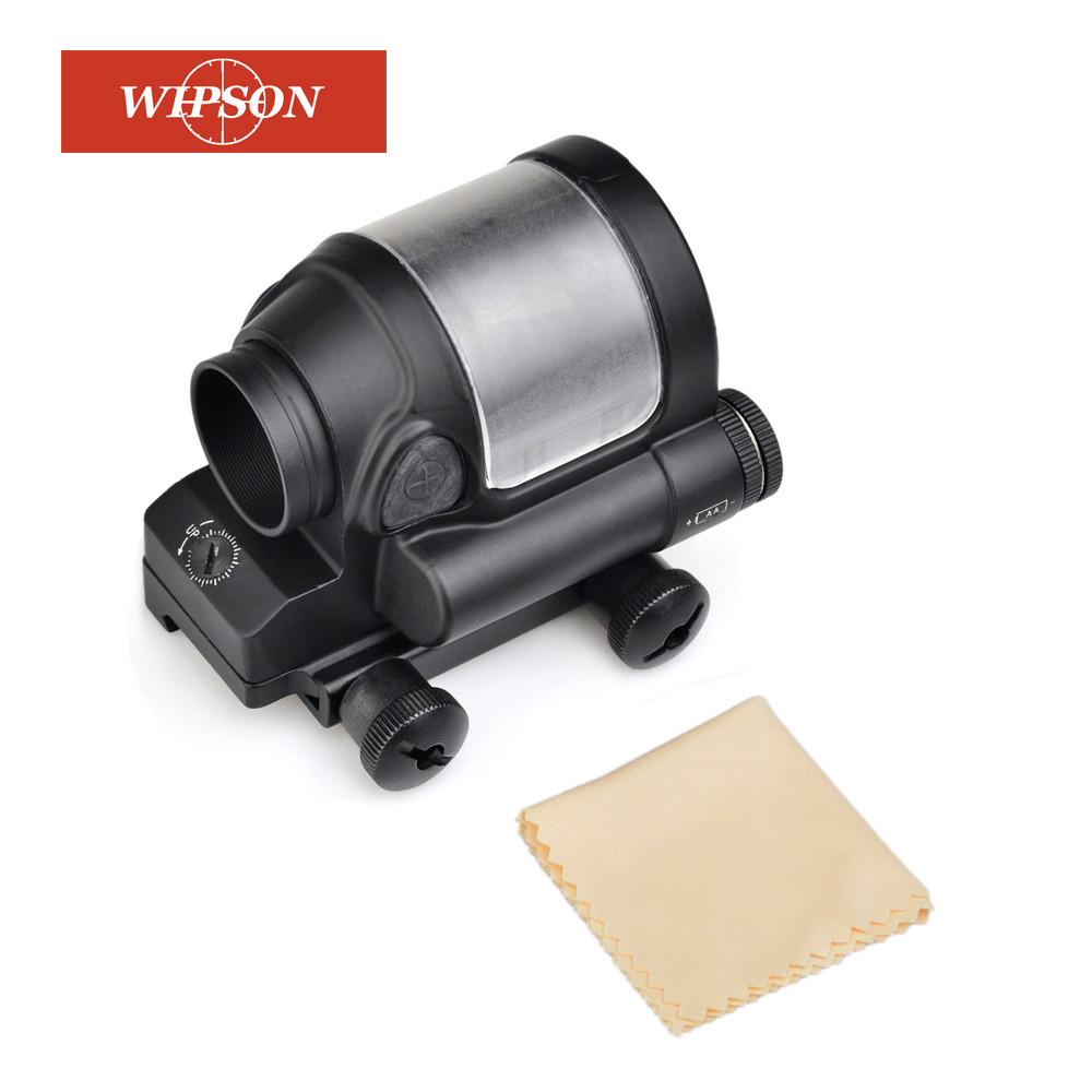 WIPSON Tactical Hunting Sight Scope SRS Reflex 1x38 Red Dot Iron Optics Riflescope For Airgun Black/DE aim o red dot tactical hunting sight scope srs reflex 1x38 iron optics riflescope for airgun ao3040