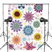150x220cm Wonderful Colorful Floral Pattern Photography Backdrop Simplistic Flowers Background Abstract Art