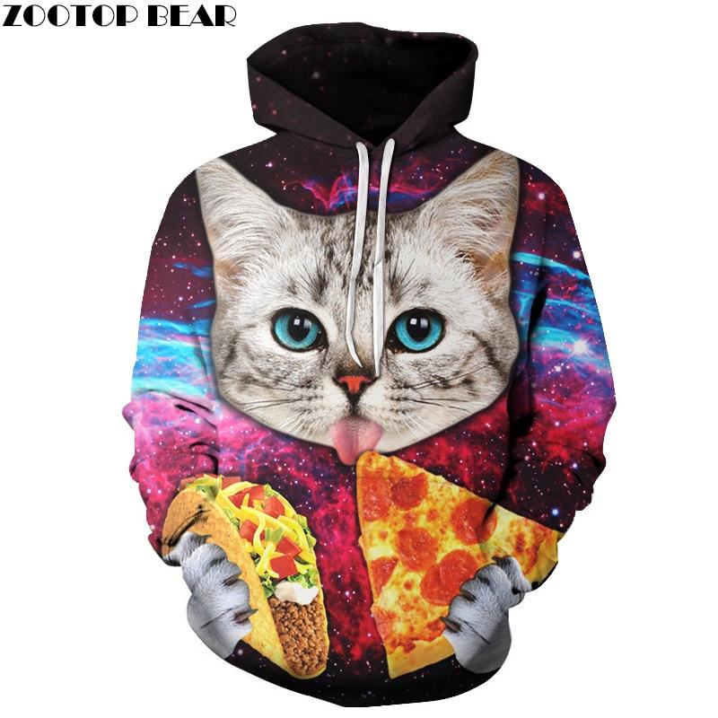 Pizza Cat Hoodies Men Women Brand Sweatss