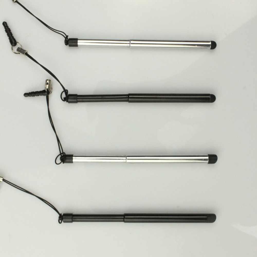 قابل للسحب العالمي قلم شاشة اللمس قلم مستدق الطرف بالسعة القلم ل ذاكرة فلاش لباد نقطة مستديرة رقيقة تلميح آيفون