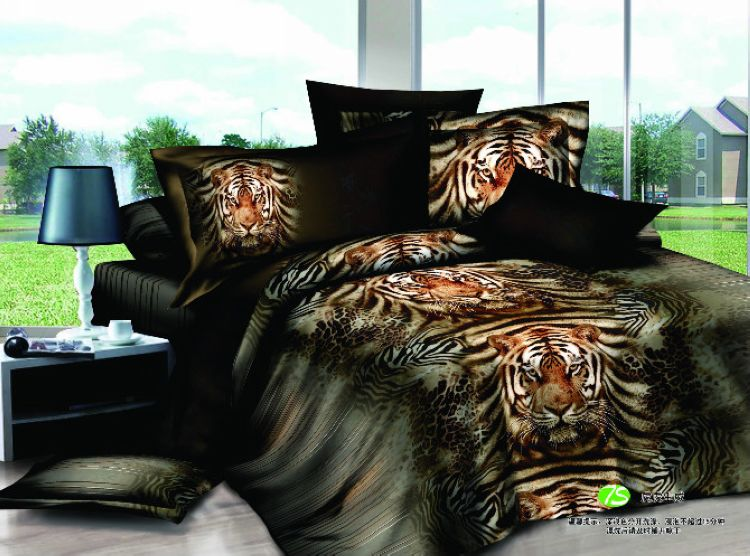 Tigers Animal 3d Comforter Bedding Sets Bedspread Full Queen Size Duvet Covers Egyptian Cotton