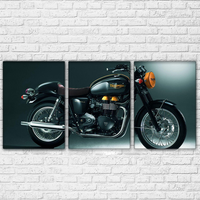 Canvas Paintings Wall Art Framework 3 Pieces Pretty Retro Motorcycle Pictures HD Prints Posters Home Decoration