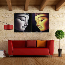 Large 100% Hand-paint Buddha Art Oil Painting On Canvas Top Sell No Framed Wall Picture For Home Decoration(China)