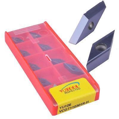 Купить с кэшбэком 10PCS YUTOOLS carbide blade VCGT110301R-H CNC lathes and milling insert new