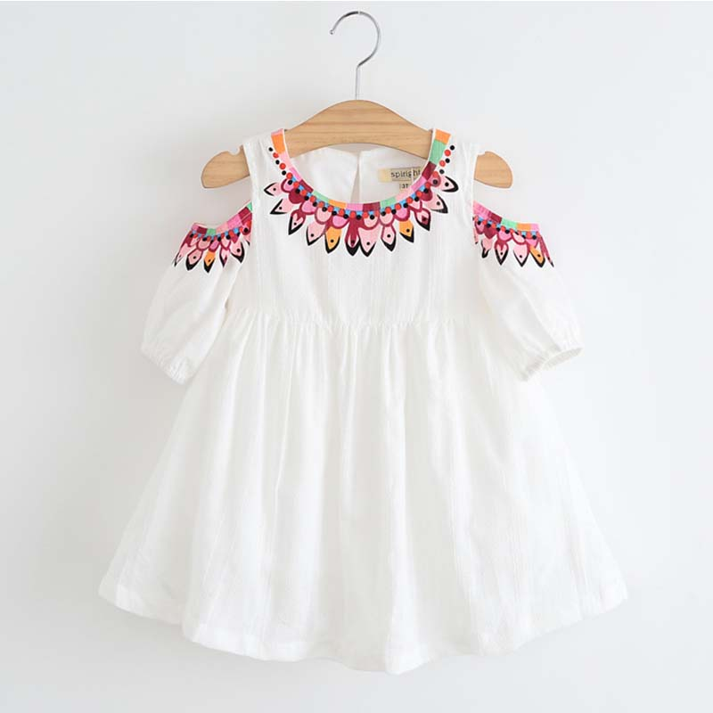 Keelorn Girls Dress 2017 Summer Style Princess Dress Children Clothing Half Sleeves Casual pattern Design for Girls Clothes aile rabbit girls dress 2017 new summer style fruit pineapple pattern printing design for baby girls dress children clothing
