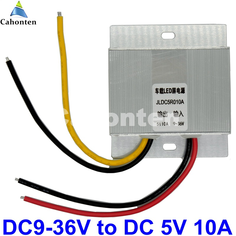 ultra thin DC to DC Power Converter DC9-36V to 5V 10A 50W Taxi /Car/ Bus LED Switching Power Supply Transformer Mini size CPT dc15v 40v 24v to 5v 80a 400w led dispaly bus switching power supply transformer vehicles dc to dc voltage converter buck module