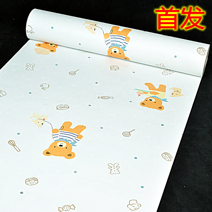10m*45cm baby Cartoon child room new cartoon children room bedroom sticky wallpaper PVC wall stickers self-adhesive  home decor fashion letters and zebra pattern removeable wall stickers for bedroom decor
