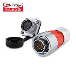 CNLINKO DH series M20 12 złącze pinowe mulri-core wtyczka i gniazdo złącze do montażu na panelu AC wodoodporny IP67 męski żeński wtryskiwacz