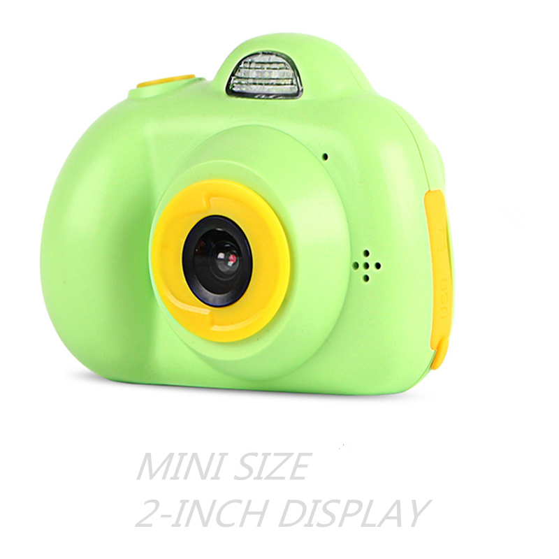 Mini Kids Camera Multi-language Fxied Lens Puzzle Game Life Record Electronic Camera Educational Toy Children's Birthday Gift