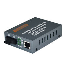 Optical Fiber Media Converter 10/100Mbps RJ45 Single Mode Converter 25KM